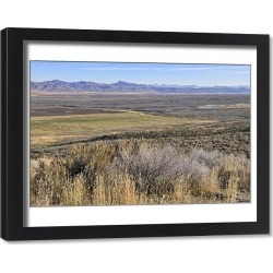 Framed Print. View from Scenic Overlook on Highway 46 towards Lost River Range, Idaho, USA
