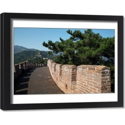 Framed Print. View of great wall of China