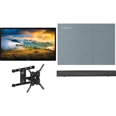 """Furrion 55 PSUNARTIC2 4-Piece Outdoor TV Package With 55"""" TV, 55"""" TV Cover, TV Mount And Soundbar With Built-In Subwoofer"""