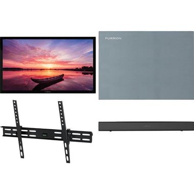 "Furrion 55 SHD TILT2 4-Piece Outdoor TV Package With 55"" TV, 55"" TV Cover, TV Mount And Soundbar With Built-In Subwoofer"