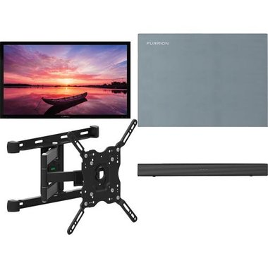 "Furrion 65 SHD ARTIC2 4-Piece Outdoor TV Package With 65"" TV, 65"" TV Cover, TV Mount And Soundbar With Built-In Subwoofer"