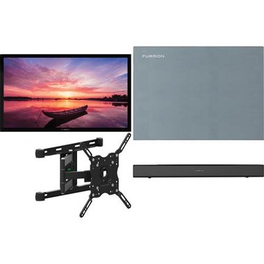 "Furrion FDUF43CBR 4-Piece Outdoor TV Package With 43"" TV, 43"" TV Cover, TV Mount And Soundbar With Built-In Subwoofer"
