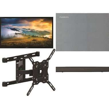 "Furrion FDUP43CBR 4-Piece Outdoor TV Package With 43"" TV, 43"" TV Cover, TV Mount And Soundbar With Built-In Subwoofer"