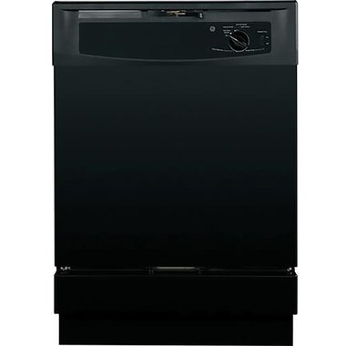 GE GSD2100VBB Built-In Front Control Dishwasher In Black