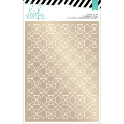 Geometric Foil Rub On Kit - Wanderlust - Heidi Swapp