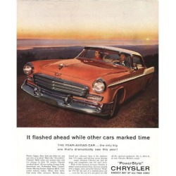 Giclee Painting: 1956 Chrysler - Year-Ahead Car, 16x12in.