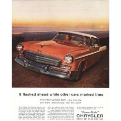 Giclee Painting: 1956 Chrysler - Year-Ahead Car, 56x44in.