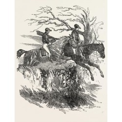 Giclee Painting: At a Steeple Chase: an Exhilarating Sight to See Hors