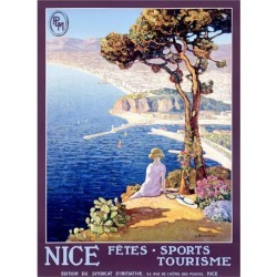 Giclee Painting: Bonamici's Nice Festival of Sports and Tourism, 32x24