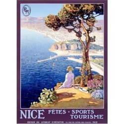 Giclee Painting: Bonamici's Nice Festival of Sports and Tourism, 60x44