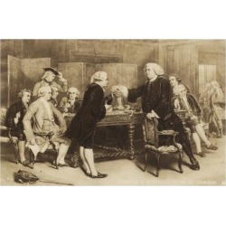 Giclee Painting: Boswell's Introduction to Dr Johnson, 24x16in.