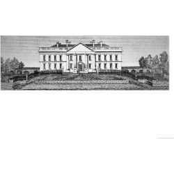 Giclee Painting: Catlin's The White House in 1820, 24x18in.