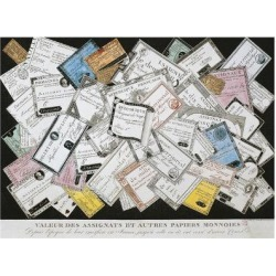 Giclee Painting: France, Paris, Paper Bills Called 'Assignats', Issued