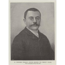 Giclee Painting: M Theophile Delcasse, French Minister for Foreign Aff