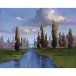 Giclee Painting: Mcmurry's Tribute to Trees, 36x46in.