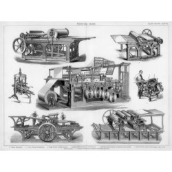 Giclee Painting: Miller's Printing Presses, 19th or 20th Century, 24x1