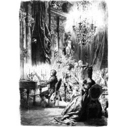 Giclee Painting: Mozart Performs for Kaiser Josef II C.1780, 24x18in.