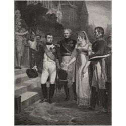 Giclee Painting: Painting Depicting Marriage of Napoleon and Queen of