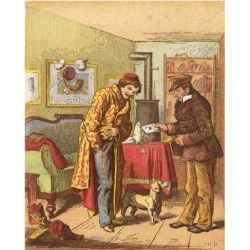 Giclee Painting: Pletsch's Paying for Letter Delivery, C1870, 24x18in.