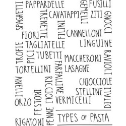 Giclee Painting: Stone's Types of Pasta, 40x32in.