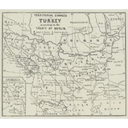 Giclee Painting: Territorial Changes in Turkey, 24x18in.