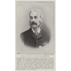 Giclee Painting: Writers of the Day, Mr Andrew Lang, 24x16in.