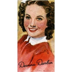 Giclee Print: Deanna Durbin, (1921-199), Singer and Actress in Hollywood Films of the 1930S and 1940S: 24x16in