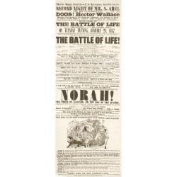 Giclee Print: Dickens Playbill: 'The Battle of Life', at Theatre Royal, Norwich, 26H January 1847: 42x14in