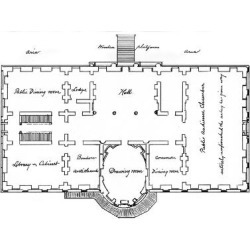 Giclee Print: Hoban's Original Plans for the White House, 18th Century: 24x18in