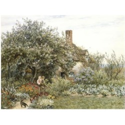 Giclee Print: Near Hambledon (Watercolour Heightened with Bodycolour and Scratching Out) by Helen Allingham: 24x18in