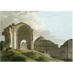 Giclee Print: Ruins of the Palace at Madurai, Engraved by Thomas and William by Thomas & William Daniell: 24x18in