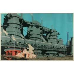 Giclee Print: Steel Manufacturing in the United Kingdom by Frank Newbould: 18x12in