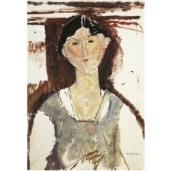 Giclee Print: Study for Portrait of Beatrice Hastings by Amedeo Modigliani: 24x16in