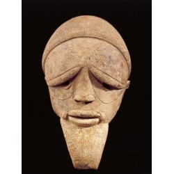 Giclee Print: Terracotta Sculpture of Male Head, Sokoto, Nigeria, 6th-2nd Century BC: 24x18in