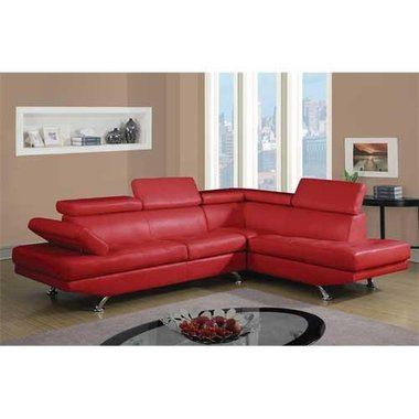 Global Furniture GSEC9782R-RED Milan Right Facing Chaise