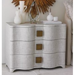 """Global Views Toile 40"""" Wide Belgian Linen Chest of Drawers (10R50)"""