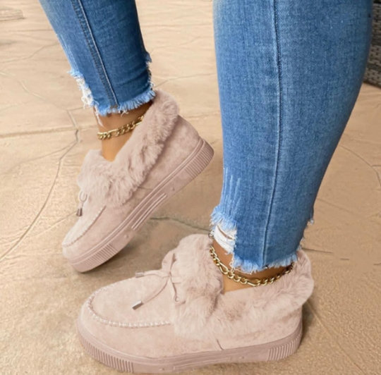 Grey Casual Round Keep Warm Shoes