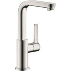 """Hansgrohe 31161 Metris S 5 3/4"""" Single Handle Deck Mounted Bathroom Faucet with Pop-Up Assembly"""
