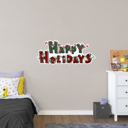 """Happy Holidays - Officially Licensed Big Moods Removable Wall Decal Giant Decal (51""""W x 21""""H) by Fathead 