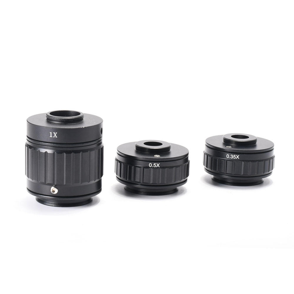 HAYEAR 1X 0.35X 0.5X C-mount Lens Adapter Focus Adjustable Camera Installation C-mount Adapter For New Type Trinocular S