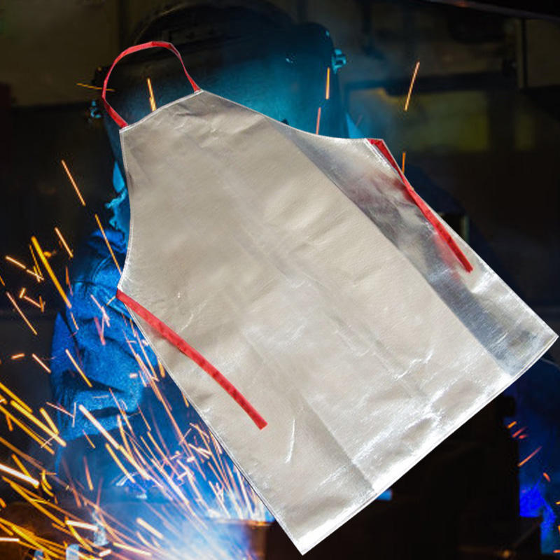 Heat Resistant Work Apron 1000℃ Aluminum Fabric Safety Apron High Temperature Working Thermal Radiation Aluminized Apron