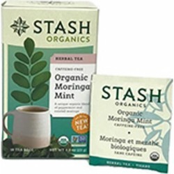 Herbal Tea Organic Moringa Mint 18 Count by Stash Tea