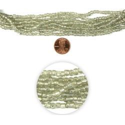 hildie & jo Strung Glass Seed Bead Hank, Silver lined Clear