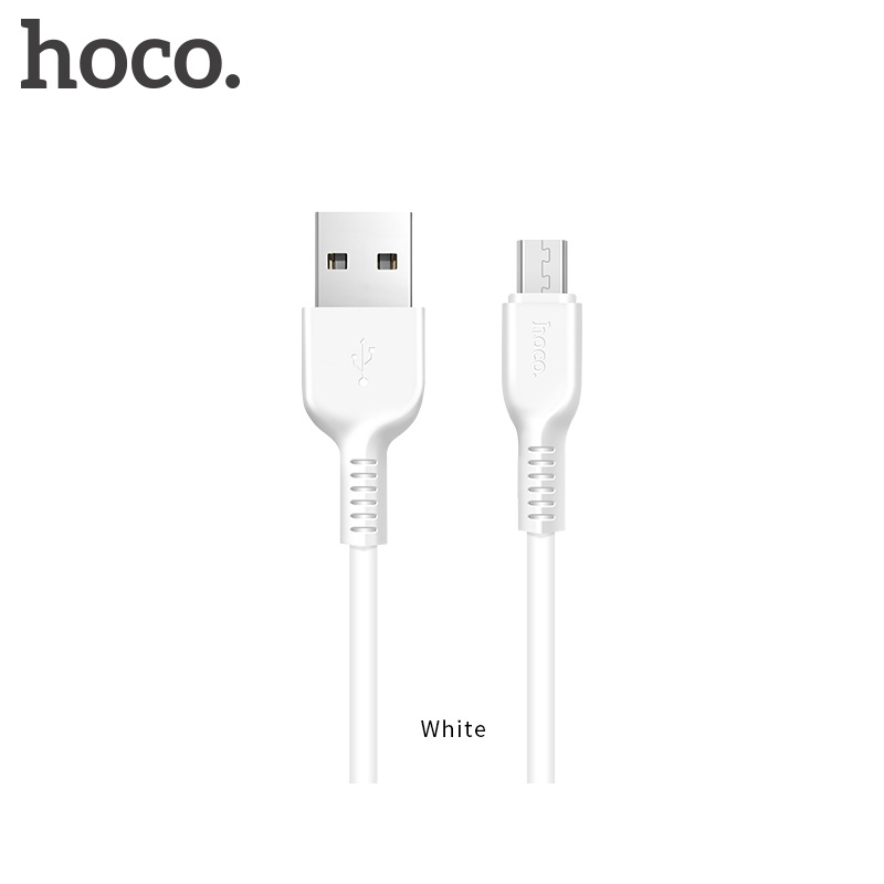 HOCO X20 2M 2A Micro USB Data Sync Charging Cable for Samsung Huawei LG - White