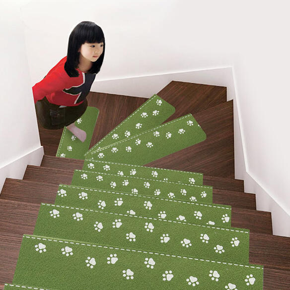 Home Decor Luminous Visual Stair Anti-Skid Staircase Mat in Green. Size: One Size