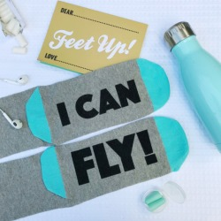 I Can Fly Feet Up Travel Socks