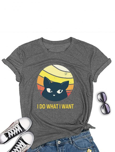I DO What I What Cat Graphic Tee