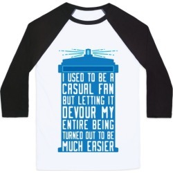 I Used To Be A Casual Fan (Doctor Who) Baseball Tee from LookHUMAN