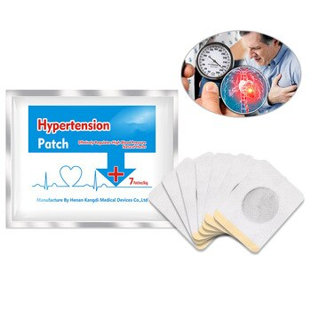 Ifory Chinese Plaster 35pcs/5Bags Hypertension Patch Health Care Natural Herbs Reduce High Blood Pressure Clean Blood Patch