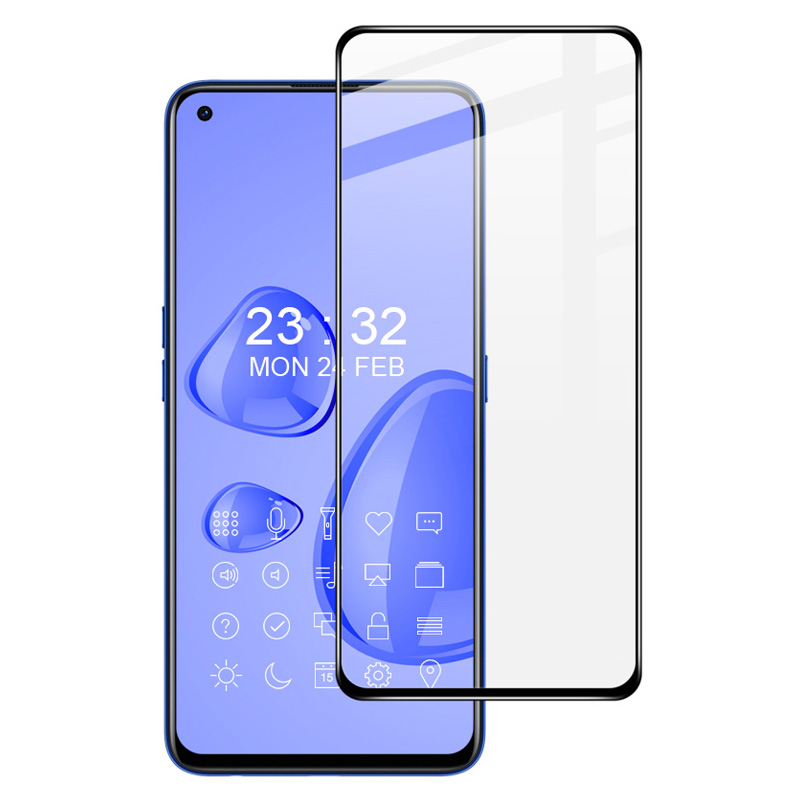 IMAK Pro+ Series AB Glue Tempered Glass Complete Covering Screen Film for Realme 7 Pro